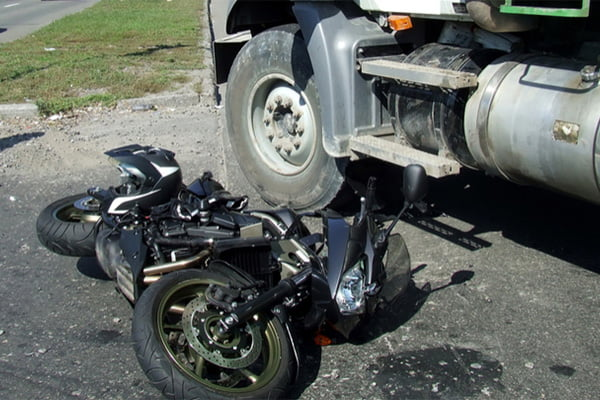 motorcycle truck accident